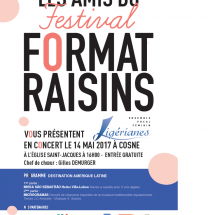 affiche format raisin